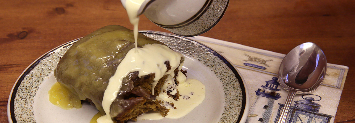 Sticky Toffee Pudding and Cream